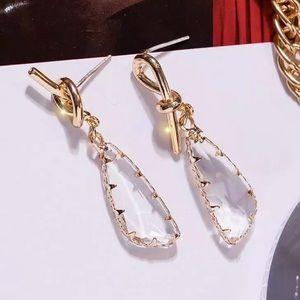 🎉Knot Crystal Statement Drop Earrings